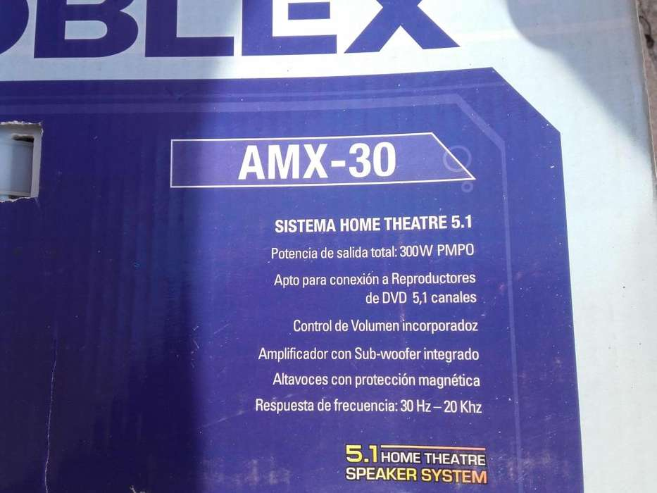 Home theatre noblex amx30