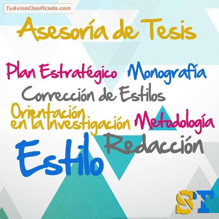 ASESORIA DE TESIS Y PROYECTOS EN TODAS LAS AREAS PROFESIONALES...GRADUATE YA!
