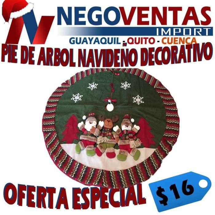 PIE DE ÁRBOL NAVIDEÑO DECORATIVO PRECIO OFERTA 16,00