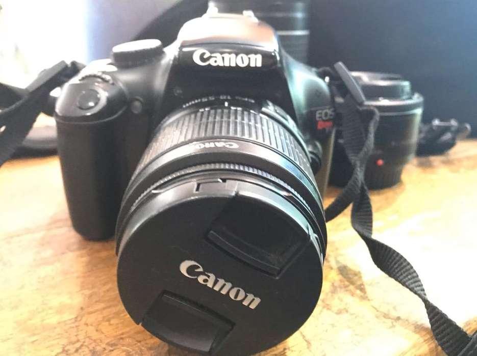 Canon Rebel T 3 y 3 lentes