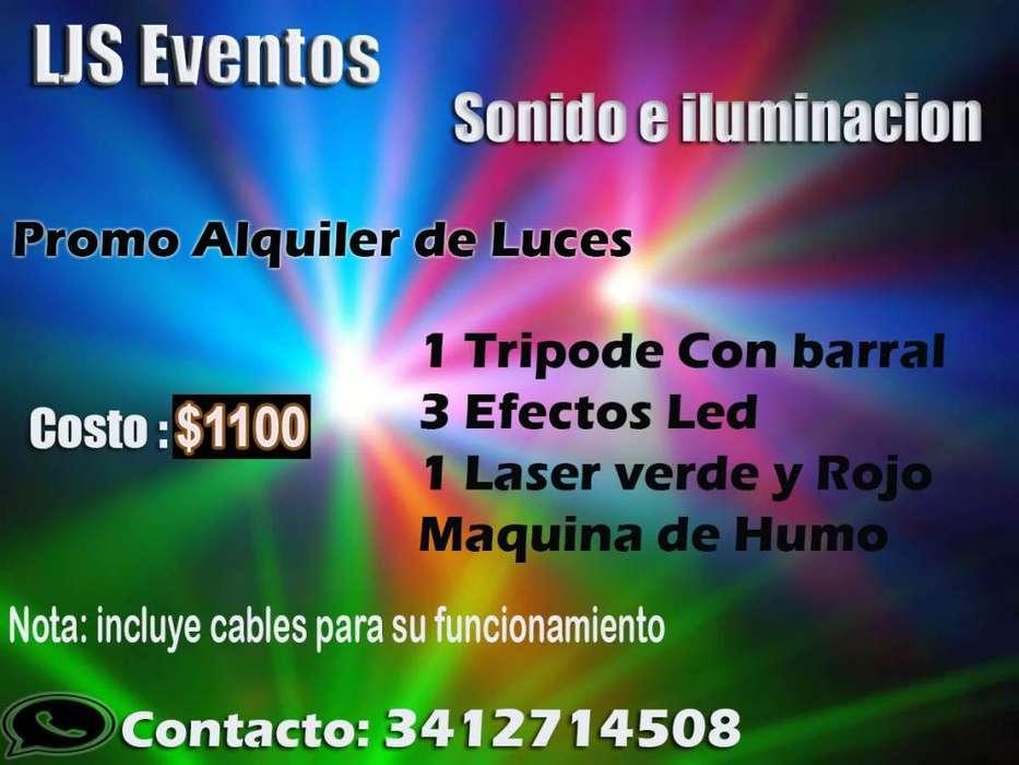 Alquiler de luces para eventos