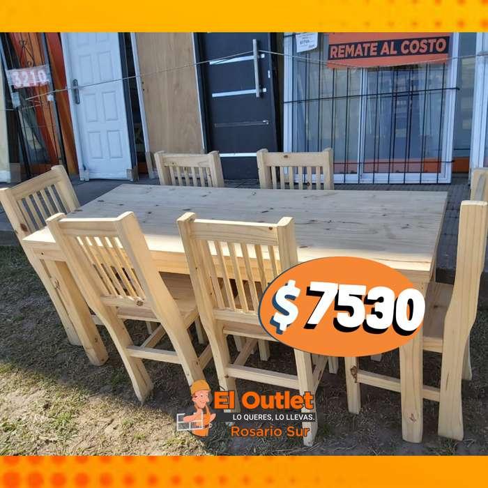 Mesa con <strong>silla</strong>s reforzadas