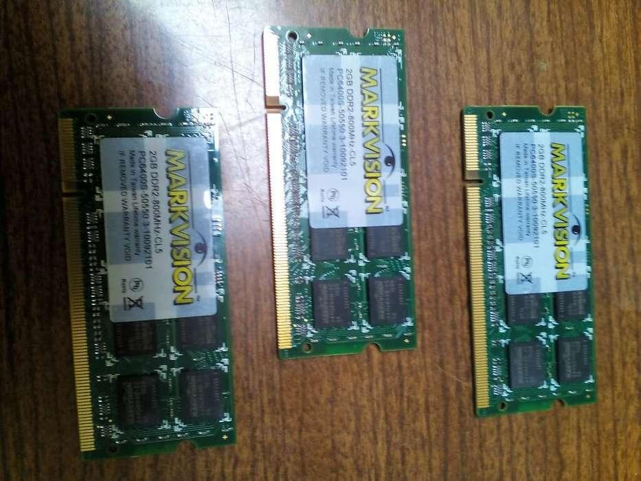 Memoria Ram 2gb Ddr2 Pc 800 para Laptop