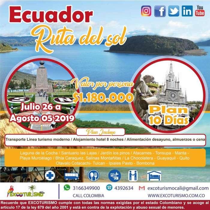 EXCURSIÓN ECUADOR RUTA DEL SOL y CAPURGANA 2019 DESDE CALI