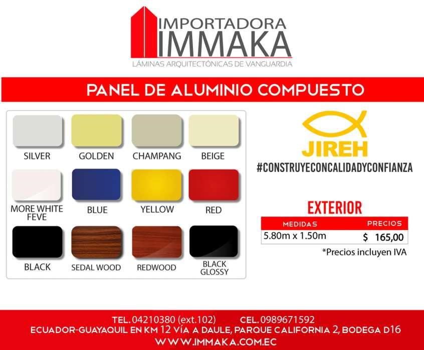 Alucobond Panel de Aluminio Compuesto para interior y exterior Policarbonato, Acrilico, Cielo raso pvc, tumbados