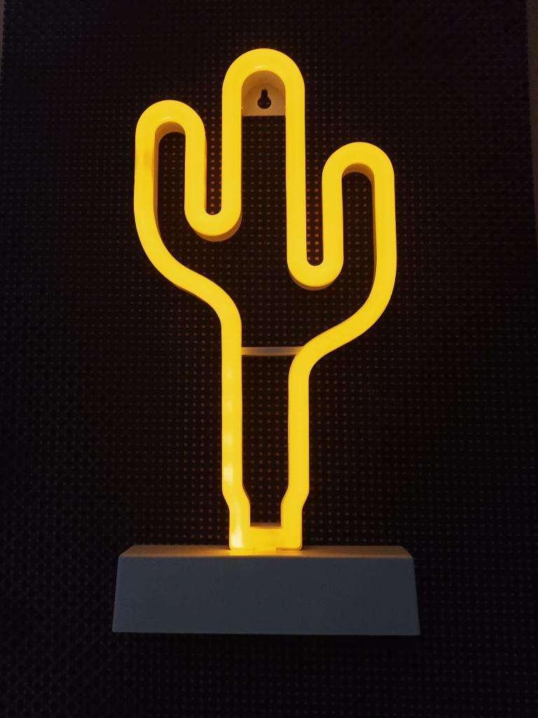 Lampara Luz Led Velador Neon Deco Cactus