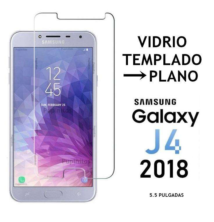 Vidrio Templado Plano Samsung Galaxy J4 2018 Rosario