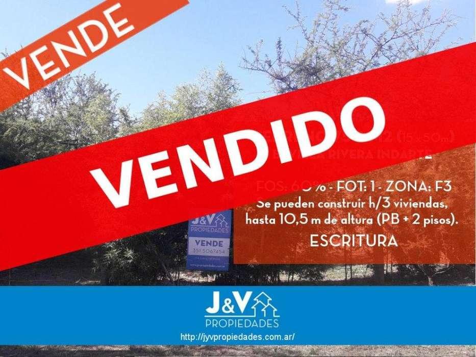 VENDO TERRENO 750 M2 B VILLA RIVERA INDARTE. ESCRITURA!!!