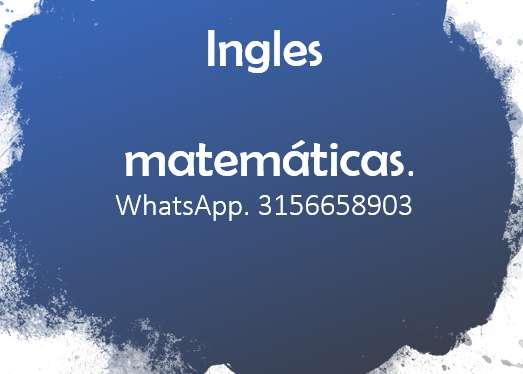 Tutor de ingles y matematicas