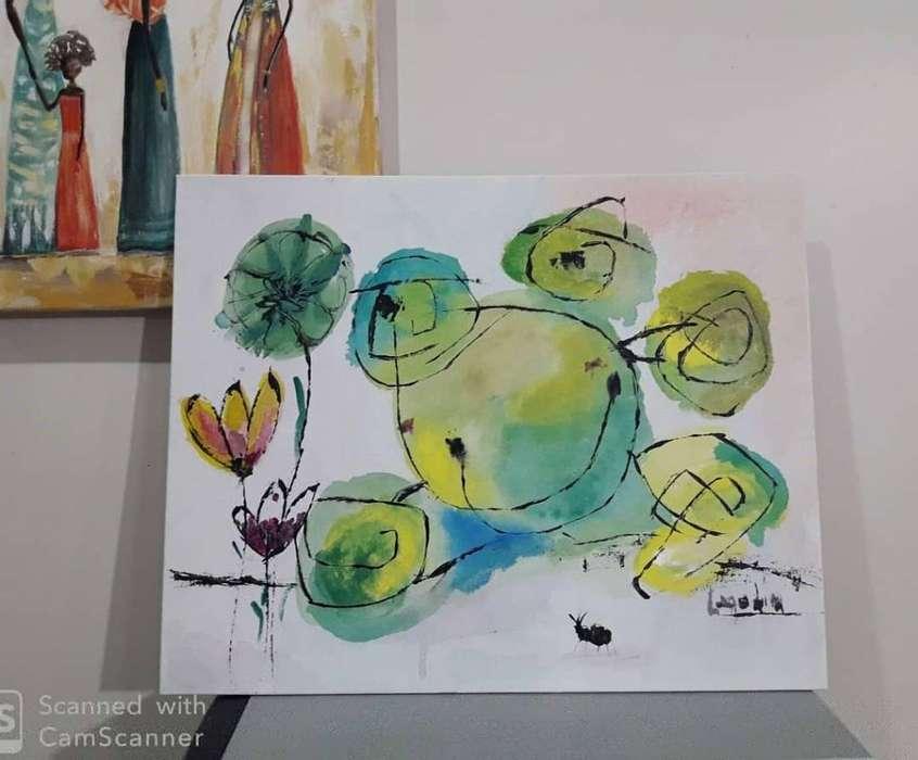 Cuadro Infantil Pintado a Mano 40x50