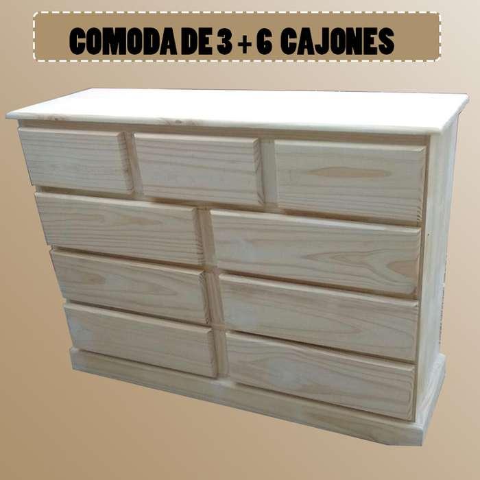 COMODA DE 3 6 CAJONES