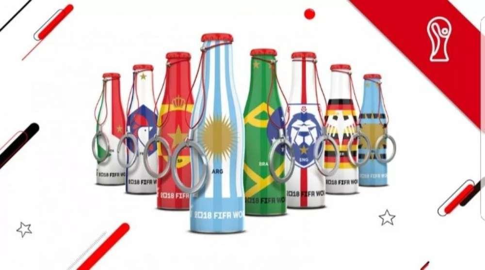 Llaveros Rusia 2018 de Coca Cola