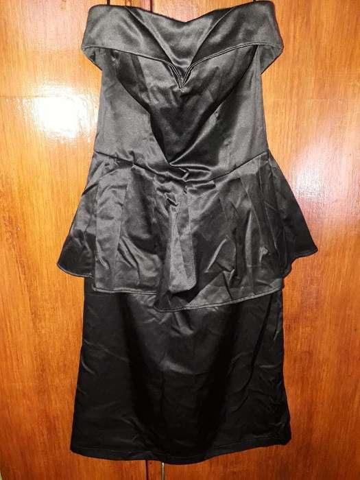 Vestido de Fiesta Negro Indigena