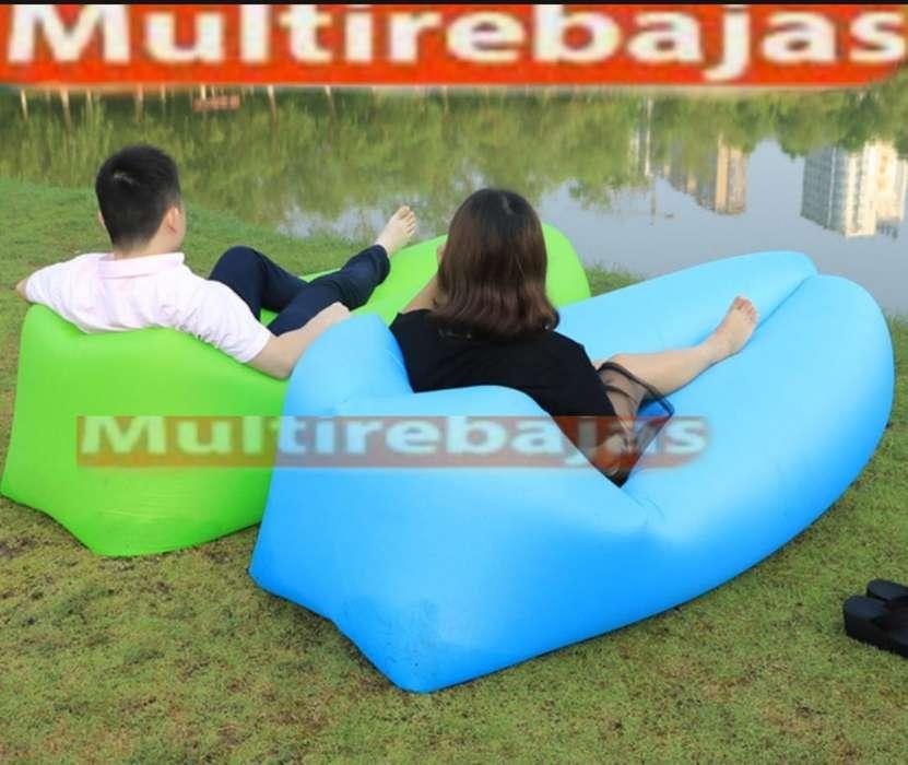 Puff Inflable Varios Colores Para Descansar En Playa O De <strong>camping</strong>