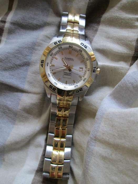 177a3c583d50 Reloj Fossil PR5340 Plata Dorado Bateria Nueva Traido de USA