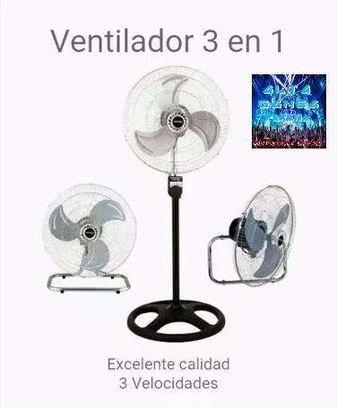 "<strong>ventilador</strong> 3 en 1 18"" 3 Aspas Metal. Gran caudal de aire"