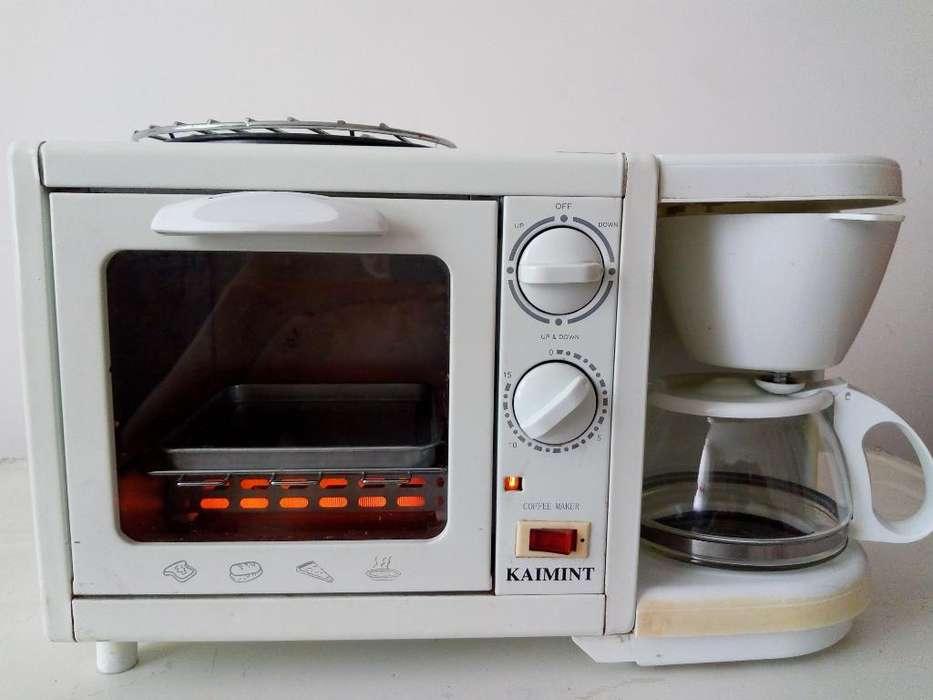 Horno Tostador de Pan con Cafetera