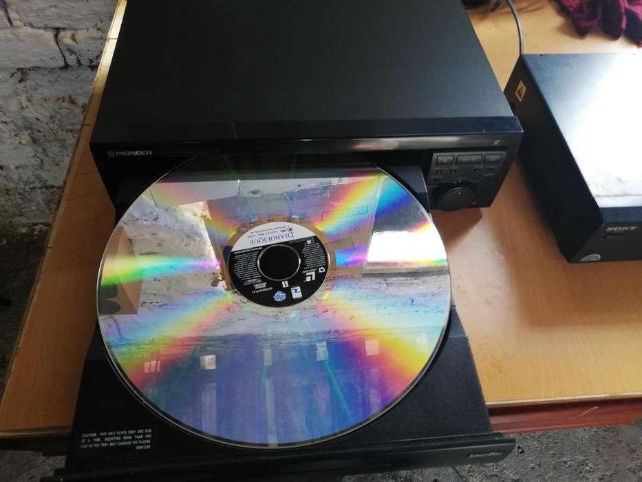 Láser Disc Pioneer Sony Mini Disc