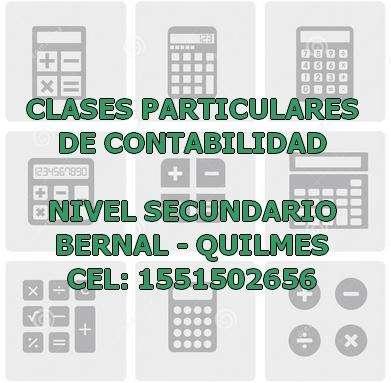 clases particulares de contabilidaden Bernal Quilmes nivel secundario 1551502656