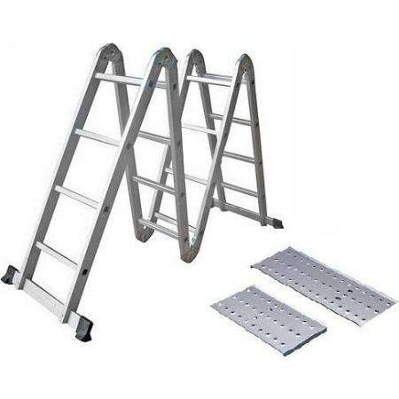 Escalera Aluminio Articulada Multifuncion 4x4