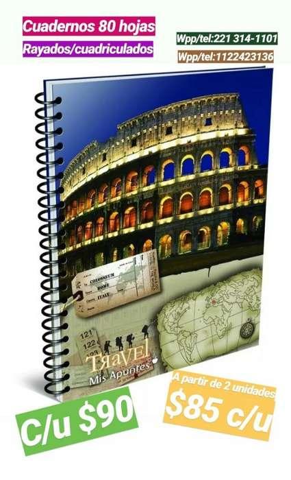 Cuadernos 80 Hojas