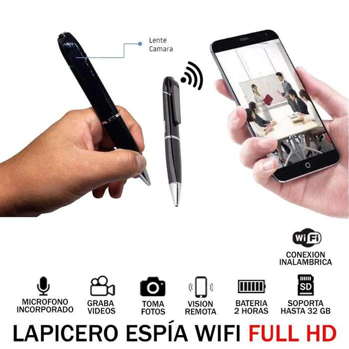 Camara Oculta Lapicero Espia Wifi Full HD 2H 32GB