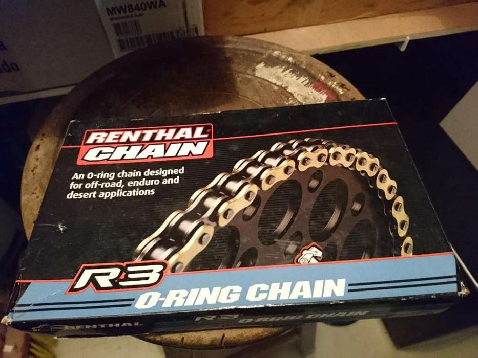 Cadena 520 Renthal R3 O-ring Dorada . en Tunja