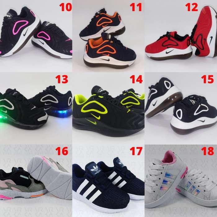 Calzado Tenis Zapatillas para Niños con y sin Luces Envío y Obsequio GRATIS