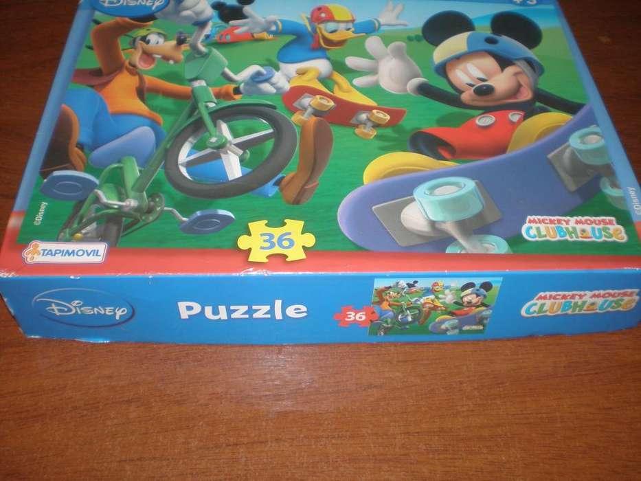 Rompecabezas Mickey Mouseclub House 36 Piezas Tapimovil JUEGO DE MESA