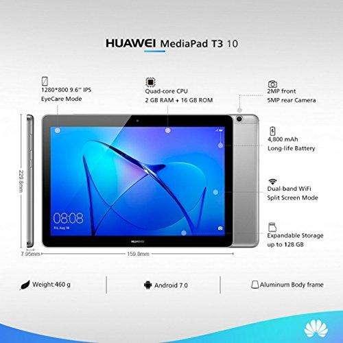 TABLET HUAWEI MEDIAPAD T3 10'' 2GB RAM Y MEMORIA INTERNA 16GB