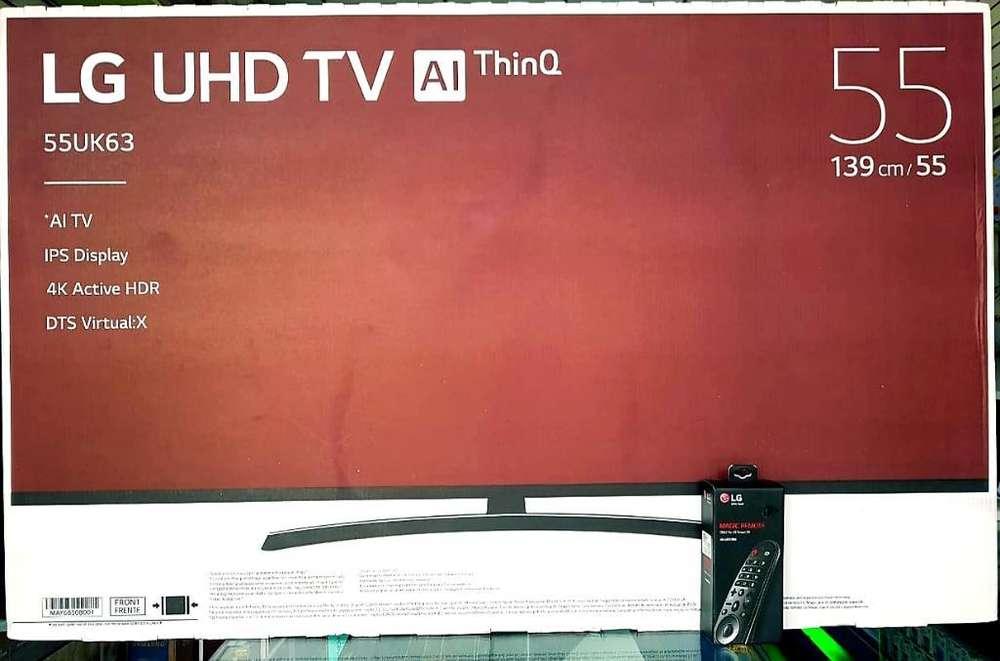 Lg Smart Tv 55 de Paquete