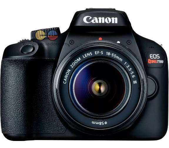 Canon Cámara T100 18 Mp Wifi Fullhd Lente 18-55mm Lcd 2.7