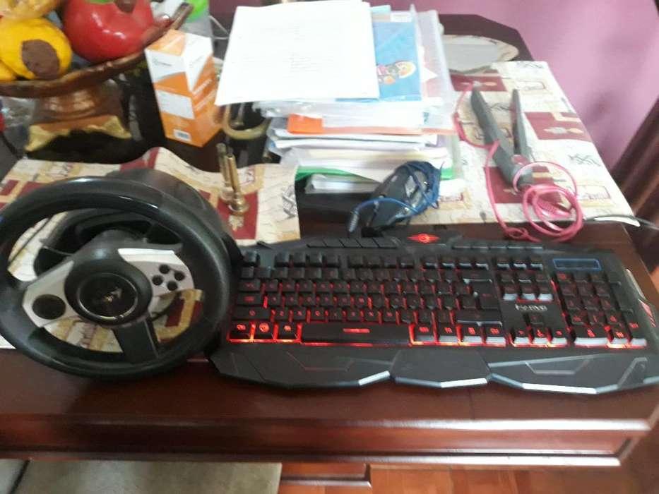 Teclado <strong>mouse</strong> Gamer Y Volante
