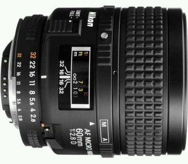 Objetivo Nikon micro nikkor AF 60mm 2.8 como nuevo