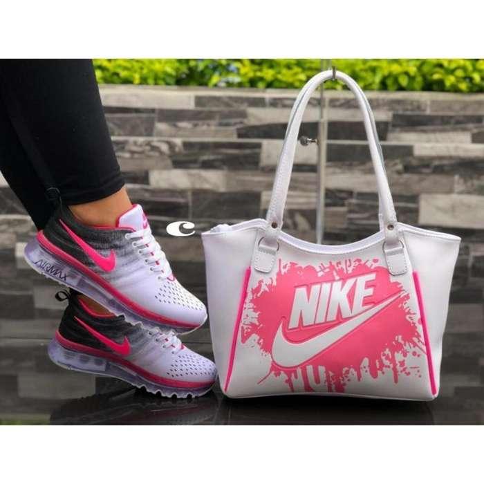 Combo Tenis Nike con Bolso Dama