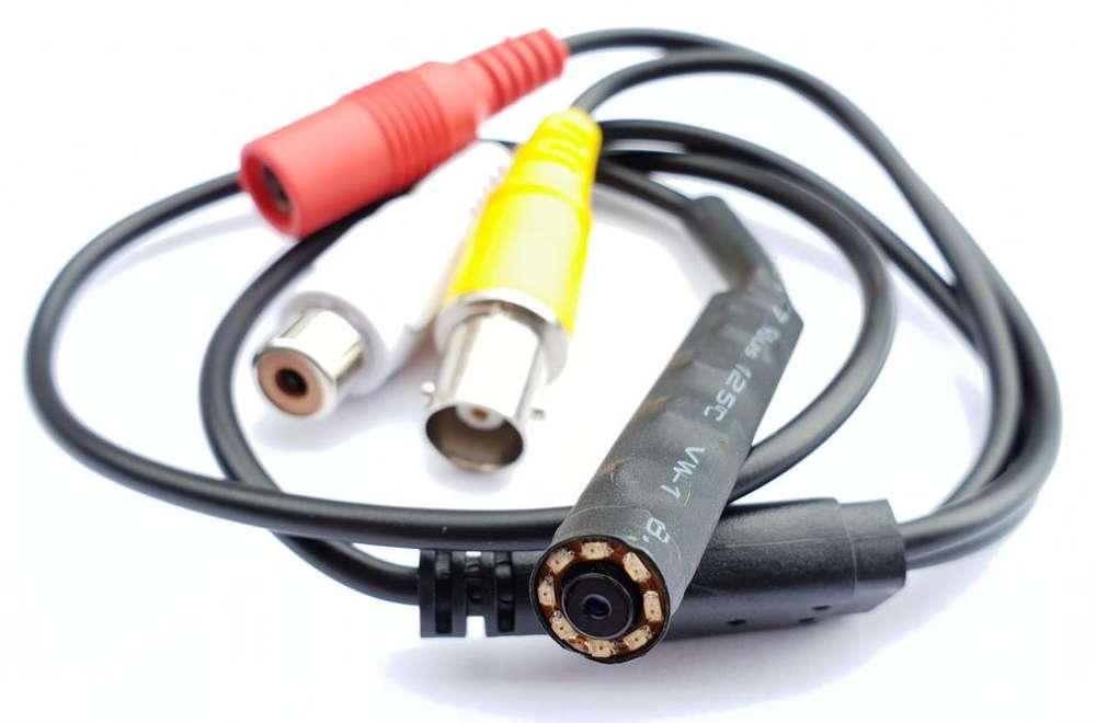209L Camara Cctv Dvr Pinhole Espia V.Nocturna 8IR Video Color Audio 54cm 2Mpx