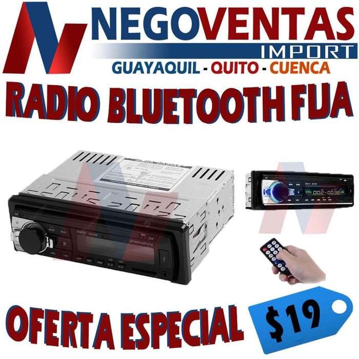 RADIO PARA CARRO BLUETOOTH FIJA USB SD AUX FM DE OFERTA
