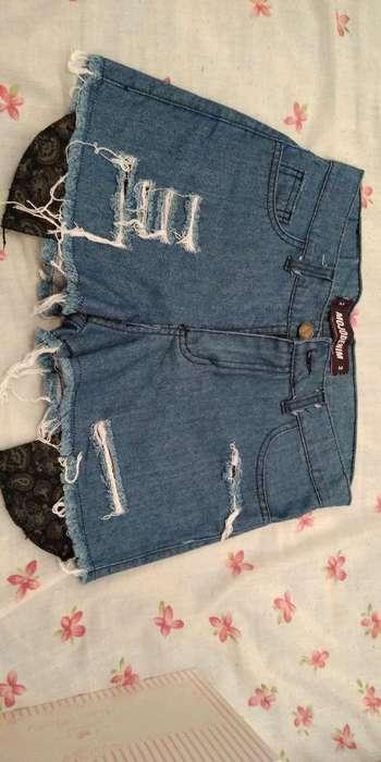 Short de Jeans Mujer Talle 2