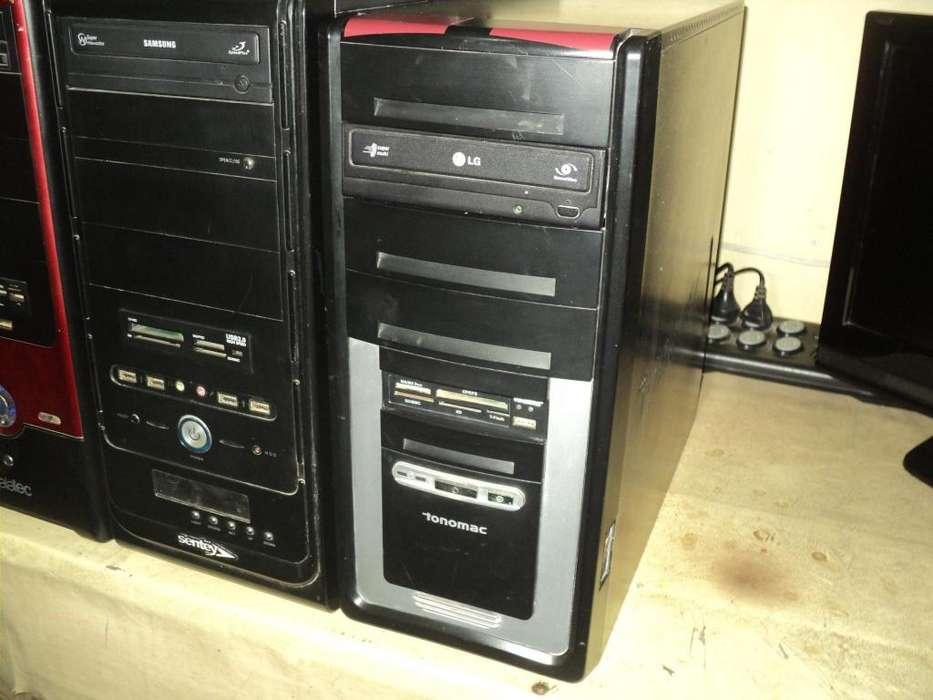 CPU dual core, disco de 160 gb, memoria ram 3 gb, placa de video 1 gb. Moderno gabinete.