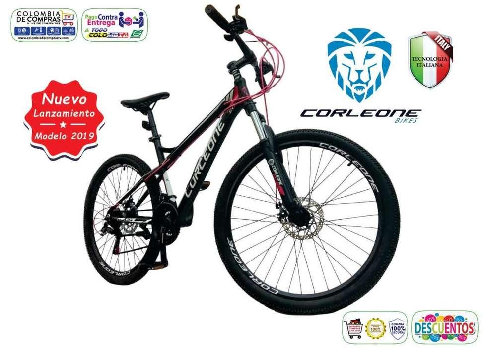 Bicicleta Todoterreno En Aluminio Suspensión Hidráulica SHIMANO 21 Vel. Rin 26, 27.5, 29, Nueva, Todo Terreno