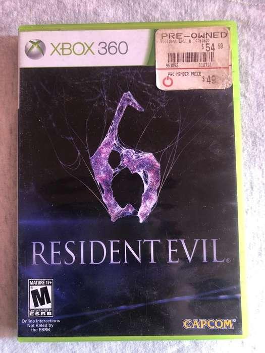 Se Vende Resident Evil 6 Xbox 360