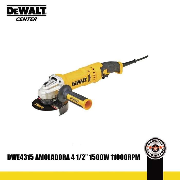 AMOLADORA ANGULAR 41/2 PULG 1500W DWE4315
