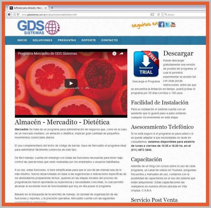 [] Mercadito [] programa para minimercado, almacén, fiambrería, verdulería… software GDS Sistemas