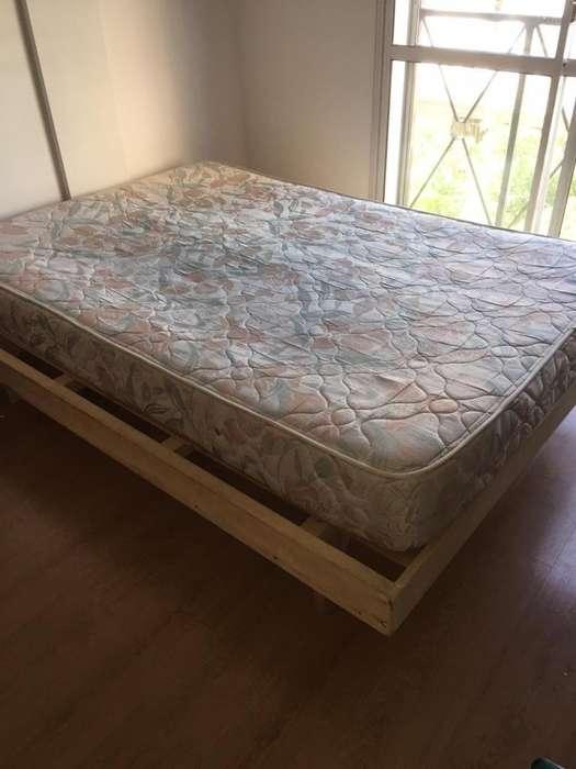 Vendo cama de 2 plazas <strong>colchon</strong>