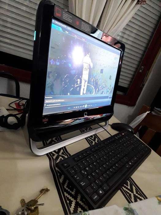 Liquido Todo en uno Compaq 18, 500gb de disco!Grabadora de DVD SuperMulti
