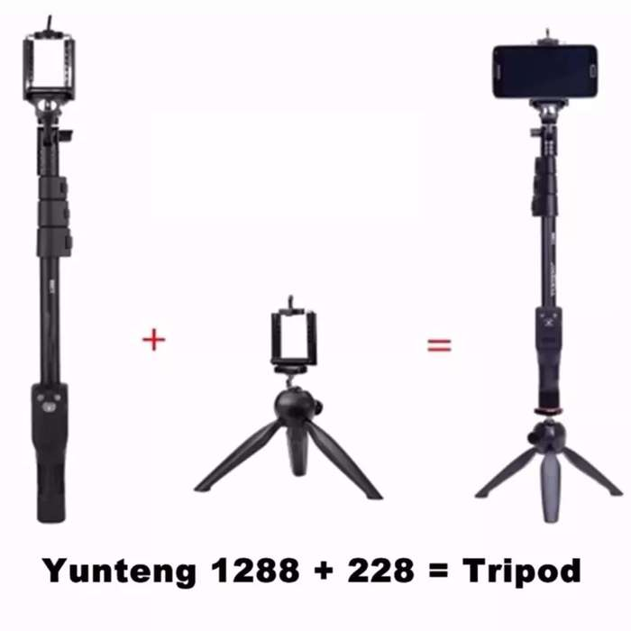 Tripode Elite Selfie Bluetooth Monopod Yunteng Baston