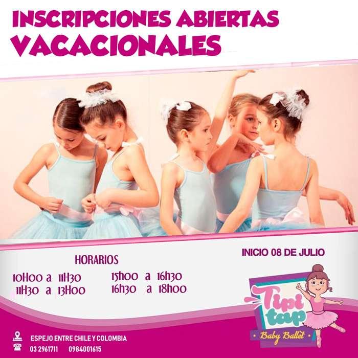 CURSOS VACACIONALES DE BALLET