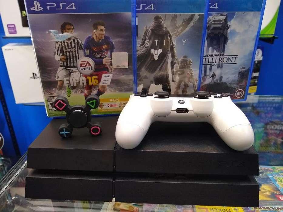 Play 4 Fat 500 Gb 1 Control 3 Juegos