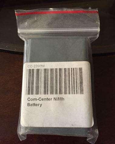 Eartec CC2200NI Batería de repuesto de NiMH para COMSTAR ComCenter nuevo