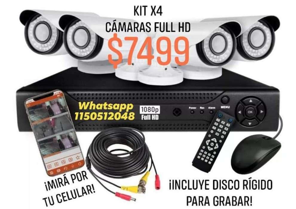 Kit X4 Full Hd Cámaras de Seguridad